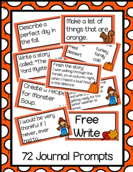 Journal Jar Writing Prompts {Fall Themed}