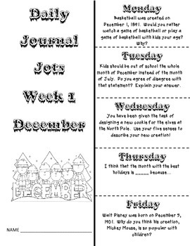 Journal Jots - December