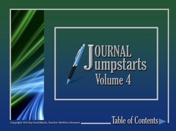 Journal Jumpstarts Volume 4, Free Version for Mac