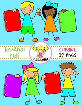 Journal Kids Clipart