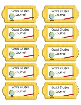 Journal Labels