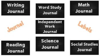 Chalkboard Journal Labels