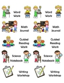 Journal Labels - 5 different and pictoral labels for stude