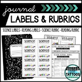 Journal Labels & Rubrics