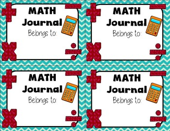 Journal Labels for Composition or Spiral Notebooks