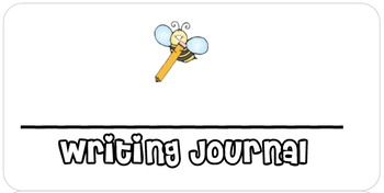 Journal Labels for Reading, Math, Writing