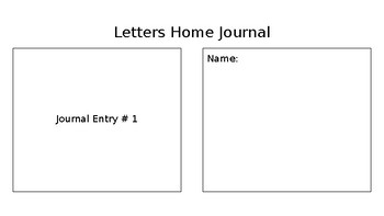 Journal - Letters Home