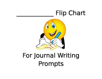 "Journal ""Look Fors"" Flip Chart for Writing Prompts"