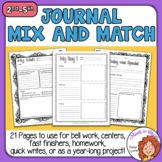 Journal Prompt Pages Motivating and Fun for Reluctant Writers Distance Learning