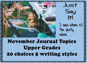 Journal November Secondary