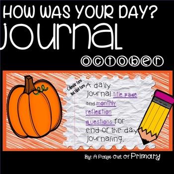 Journal/October Reflective Journals