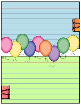 Journal Pages - Balloons