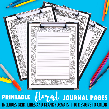 Journal Pages | Floral Series | 10 Pack