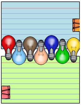 Journal Pages - Lightbulbs
