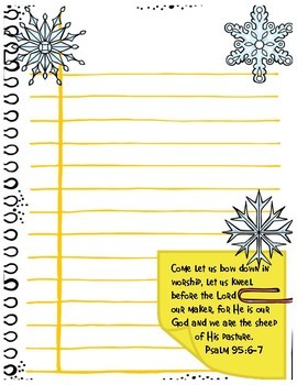 Journal Pages - Snowflakes