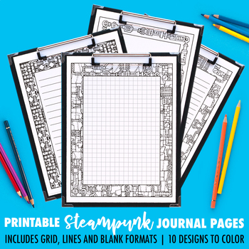 Journal Pages | Steampunk Series | 10 Pack