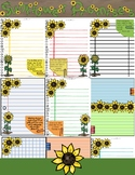 Journal Pages - Sunflowers