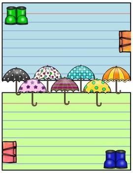 Journal Pages - Umbrellas & Rainbows