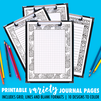 Journal Pages | Variety Series | 10 Pack