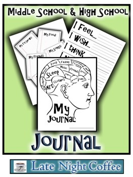 Journal Pages and Cover for Middle School & High School
