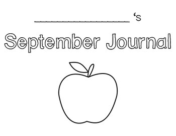 Monthly Journal Pages and Writing Lines