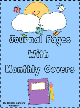 Journal Pages with Monthly Covers