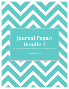 Journal Pages with Suggested Paired Read Alouds
