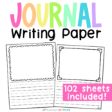 Journal Paper   Blank Journal Pages Lined for PreK & Kindergarten Writing
