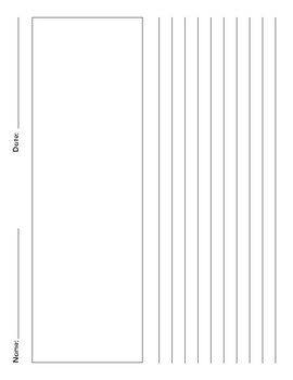 Journal Paper, Writing Paper, third Grade .375 line spacing, 7 different pages