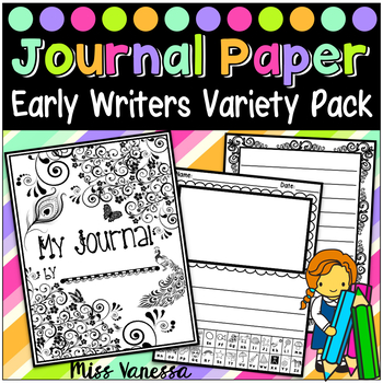 Journal Paper for Early Writers ~ 18 Sets of Writing Paper