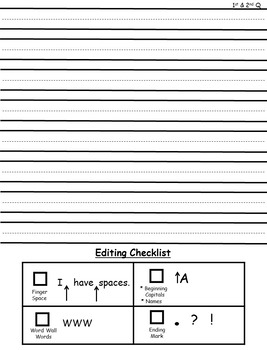 Journal Paper with Editing Checklist 1st and 2nd Quarter