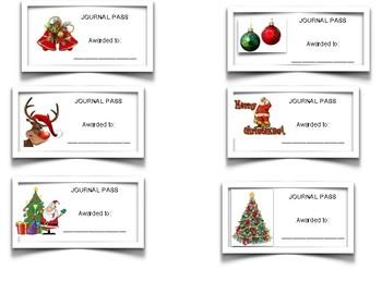 Journal Passes: Christmas Theme