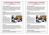 Journal Plan - A Dedicated Teacher