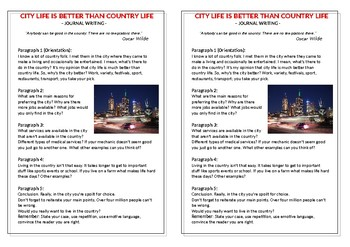Journal Plan - City Life Is Better Than Country Life