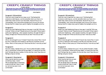 Journal Plan - Creepy, Crawly Things