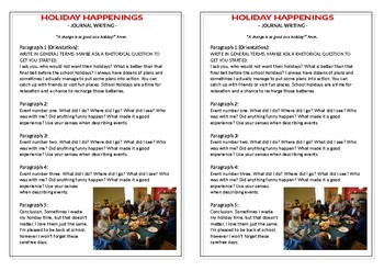 Journal Plan - Holiday Happenings