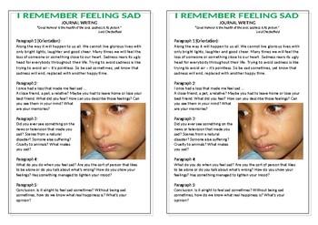 Journal Plan - I Remember Feeling Sad
