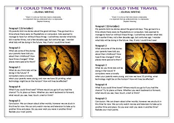 Journal Plan - If I Could Time Travel