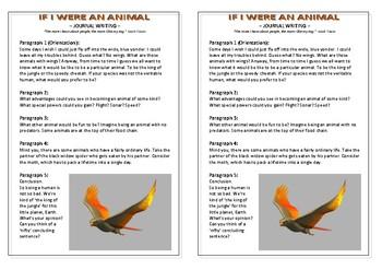 Journal Plan - If I Were An Animal