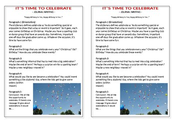 Journal Plan - It's Time to Celebrate