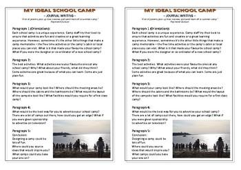 Journal Plan - My Ideal School Camp