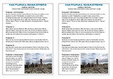 Journal Plan - Natural Disasters