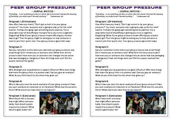 Journal Plan - Peer Group Pressure