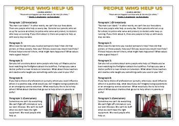 Journal Plan - People Who Help Us