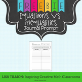 Equations and Inequalities Journal Prompt