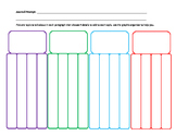 Journal Prompt Multi Paragraph Graphic Organizer