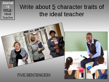 Journal Prompt Powerpoint