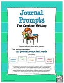 Journal Prompt Task Cards