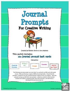 Journal Prompt Task Cards