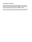 Journal Prompt - Women's History